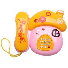 Niños Fone Colorido Juguete Teléfono de La Música de la Diversión Básico Charla Setas Juguetes Teléfono Teléfono de Juguete Móvil Del Bebé Juguetes de Los Niños