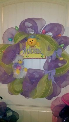Poly Mesh Easter Wreath