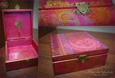 Handmade jewellery box in oriental style www.meriart.pl.tl #oriental #jewellerybox #meriart #handmade