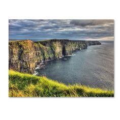 Trademark Pierre Leclerc 'Cliffs of Moher Ireland' Art