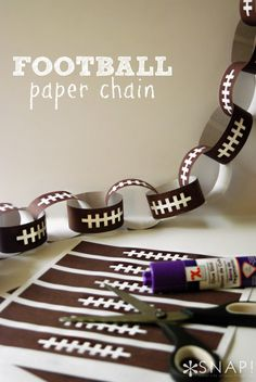 Football Paper Chain Printable - create a simple paper chain to define your party space.