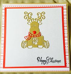 Made using tattered lace baby reindeer die Die Cut Christmas Cards, Xmas Cards, Christmas Stuff, Christmas Ideas, Tattered Lace Cards, Babys 1st Christmas, Baby Deer, Reindeer, Scrapbook