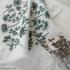 dill flowers  |  needlework