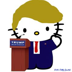 hello kitty donald trump