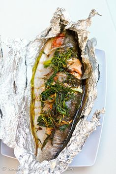 Trout fishing & 2 trout recipes (lemon & herbs, Chinese with ginger & soy based sauce)