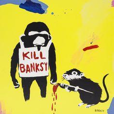 Laurina Paperina - Banksy - 2014 - Mixed media on wood - 30 x 30 cm - © Mazel Galerie