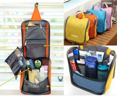 4pcs lot New Traveling Toiletry kits with hanger vanity case for women  cosmetic pouch Free Shipping-in Cosmetic Bags   Cases from Luggage   . cbd2c6001eaff