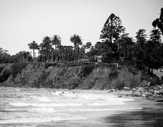 Butterfly Beach in Santa Barbara, CA  Black & White Fine Art Photographic Print in Various Sizes