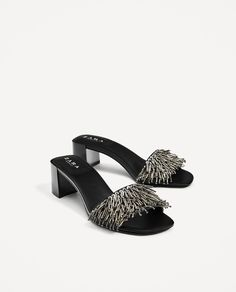SANDALS WITH METALLIC DETAILS-View all-SHOES-WOMAN | ZARA United States