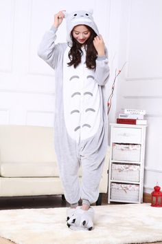 winter Unisex sleepwear fleece adult cartoon animal pajamas suit for women  men girl hoody Flannel Cosplay Warm Onesies homewear d5a4a154d