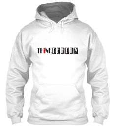 Think Deeply White Sweatshirt Front