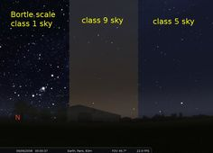 Examples Of The Bortle Dark Sky Scale Universe Pinterest - Bortle dark sky scale map