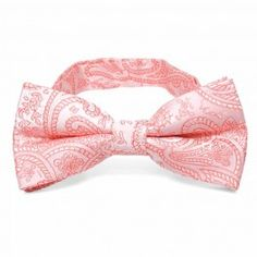 Coral Clara Paisley Band Collar Bow Tie