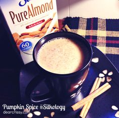 Pumpkin Spice for Christmas -   1 cup Silk Vanilla Almond or Coconut Milk, 1 1/2 Tbsp canned pumpkin, 1/4 tsp pumpkin pie spice, 1 tsp caramel flavored syrup...Whisk all ingredients together in a blender. Pour your pumpkin spice drink into a glass and garnish with a cinnamon stick.