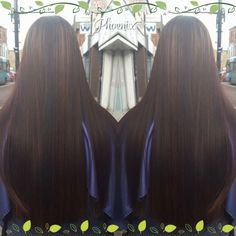 #colour correction # long hair # black to brown #caramel #colour strip #corrugatedfoils #root smudge www.phoenix-hairandbeauty.co.uk