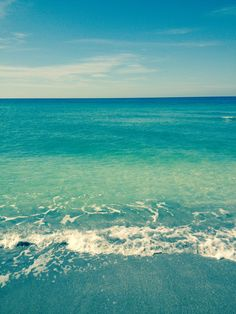 Siesta Key Beach Water on most days is clear blue. Can't wait to walk in this beautiful water.