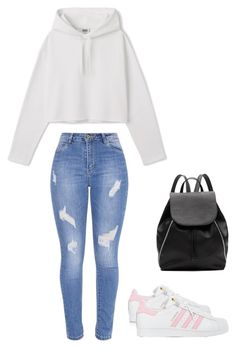 """""""✈️"""" by mallaauryrochaa on Polyvore featuring mode, adidas et Witchery"""