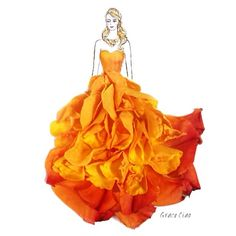 fashion illustration yellow brown - Google Search