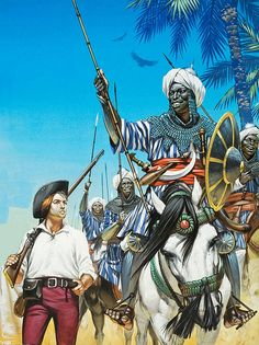 Nubian (East African) Cavalerymen escorting British trader circa 18th century by cool-art, via Flickr