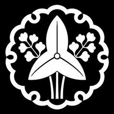 雪輪に立澤瀉 ゆきわにたちおもだか Yukiwa ni tachi omodaka. The design of water plantains in the snow circle.