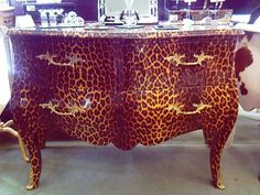 how to paint cheetah print on furniture | Large Leopard Print Chest £495, medium £395 ... sizes: large 125w x ...