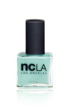 Santa Monica Shore Thing sea foam mint shade of pastel blue - green from NCLA, cruelty-free and vegan nail polish