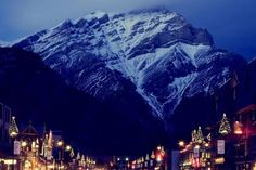 Town of banff under a glorious mountain - (#111652) - High Quality and Resolution Wallpapers on hqWallbase.com