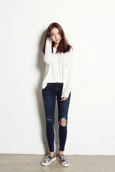 Suéter blanco largo y grande
