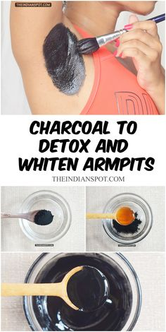 DIY charcoal to detox ans whiten armpits