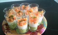 """750g vous propose la recette """"Verrines concombre-saumon rapide"""" notée 4/5 par 57 votants."""