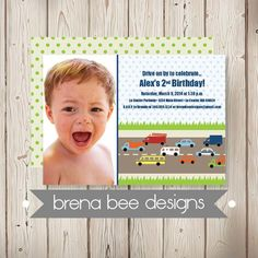 Personalized  Photo Transportation Invitation  by brenabeedesigns, $16.75