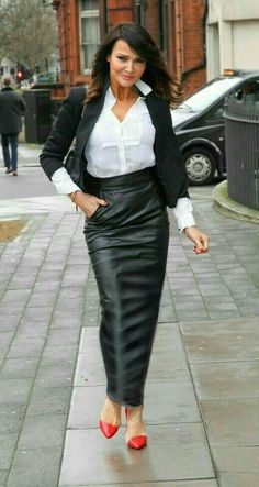 How to wear a leather hobble skirt  In public