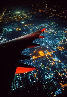 Tron like night flight