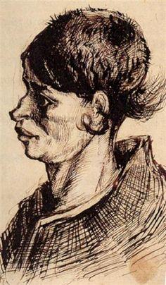 VINCENT VAN GOGH — Head of a Woman  1885   Vincent van Gogh