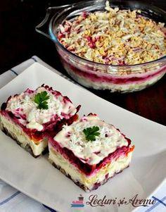 Salata ruseasca cu peste afumat. Salata suba. Salata simpla si usor de facut care seamana cu salata de boeuf cu mici diferente.