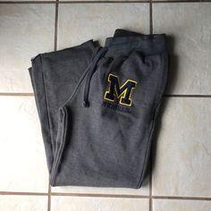 Blue 84 Gray Michigan BIG Logo Wolverines Women's Athletic Sweat Pants M Euc #Blue84 #TrackSweatPants