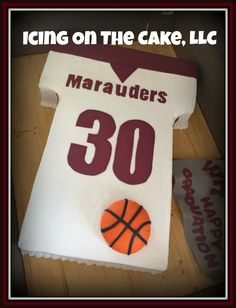 Busy HOT HOT HOT weekend!  Normally a crazy time for buttercream cakes.  But, had the air cranking and my house was an icebox this weekend!  Second cake was a simple Warren Mott basketball jersey on a basketball court cake board.  www.facebook.com/icingonthecake1