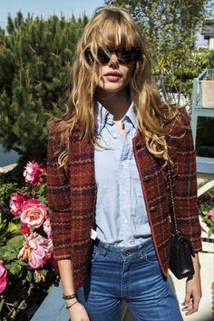 jacket, denim frida g