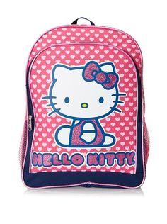 50% OFF FAB Starpoint Girl s Hello Kitty Hearts  amp  Glitter Backpack  Girls School 609f680b5d346