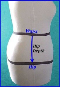 How to Adjust Your Waist to Hip Measurement (Hip Depth) on Your Pattern - Sewing, Alterations for Plus Size Women