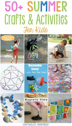50+ Summer Crafts for Kids || so many awesome idea!