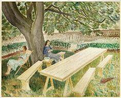 Two Women in a garden - Ravilious 1936 - Saffron Walden - March 31st- June 2012. Must go