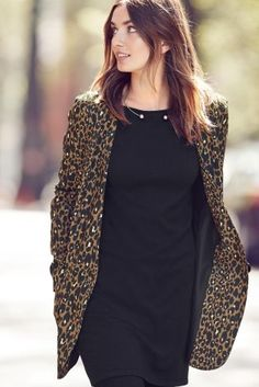 Buy Collarless Animal Print Jacket from the Next UK online shop