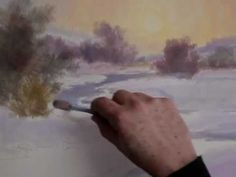 Misty Sunset Painting Tutorial with Johannes Vloothuis - YouTube