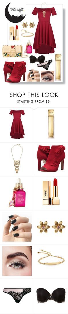 """""""Date Night ❤️"""" by babykiya786 ❤ liked on Polyvore featuring WithChic, Michael Kors, Lucky Brand, Louise et Cie, Estée Lauder, Yves Saint Laurent, Incoco, La Perla, Avon and Monica Vinader"""