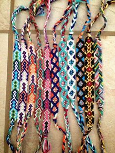 Friendship bracelets! Love these!