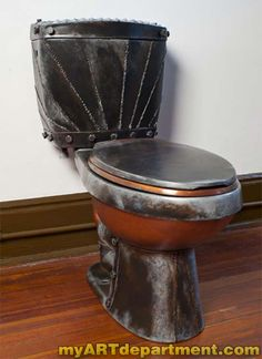 Steampunk Industrial Toilet - Complete