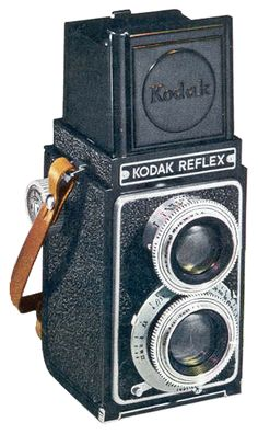 The Kodak Reflex camera was manufactured by the Eastman Kodak company from 1946 to 1949. Description from historiccamera.com. I searched for this on bing.com/images
