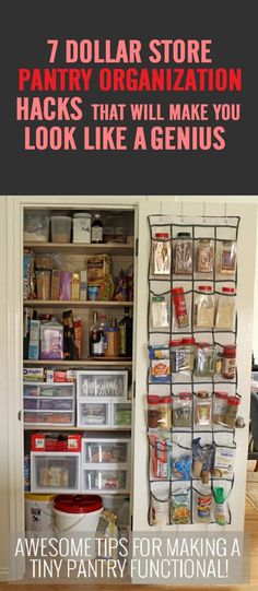 7 Handy Dollar Store Pantry Organization Hacks #Dollarstore #Pantryorganization