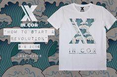 "INCOR ""how to start a revolution"" s/s 2016 Logo INCOR Waves  #italy #italia #torino #italianbrand #incaseofrevolution #graphic  #model #italiangirl  #new #marchio #streetwear  #incormood #revolution #vscocam #wear #tshirt  #tattoo #artist #italian #snapback #store #shop #street"